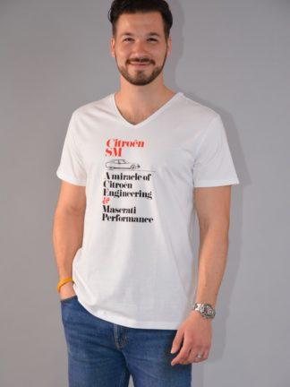 Citroboutique - Miracle shirt V neck white - zoom