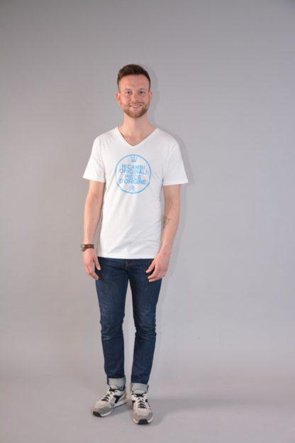 Citroboutique - T-shirt V-neck Ricambi - white