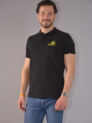 Citroboutique - polo black SM - zoom