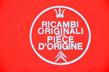 T-shirt round neck Ricambi - red - art work