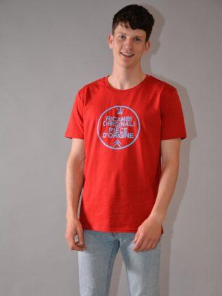 T-shirt round neck Ricambi - red - zoom