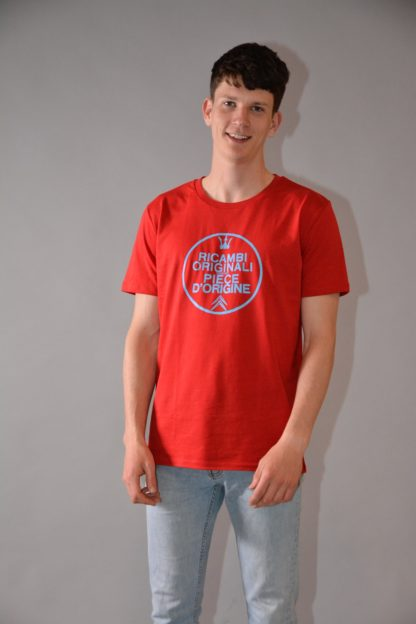 T-shirt round neck Ricambi - red - zoom